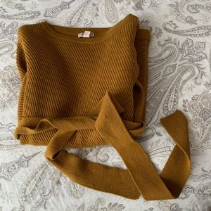 Forever 21 Long Sweater with Tie Waist